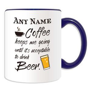 Personalised Gift Coffee Beer Mug Cup Birthday Christmas Name Text Him Her Kid