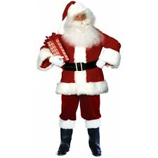 Santa Claus Costume Deluxe Velvet Suit with Satin Lining Christmas Fancy Dress