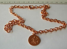 """18"""" Copper 18mm Engravable Medical Alert Charm on Chain Necklace"""