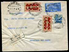 1949 - Raccomandata per Desenzano con affrancatura multipla