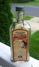 Antique Medicine Rawleigh's Veterinary Bottle Super Paper Label With Horse