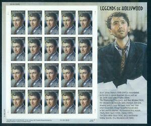 US 4197 James Stewart Legends complete sheet/20, Mint OG NH