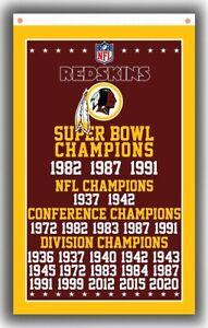 Washington redskins Champion Memorable Flag 90x150cm 3x5ft Best Football Banner