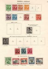 SAMOA: 1921-1935 Examples - Ex-Old Time Collection - 2 Sides Page (33141)