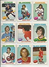 Lot of 10 Different 75-76 OPC O-Pee-Chee Cards **U-Pick** Complete Your Set