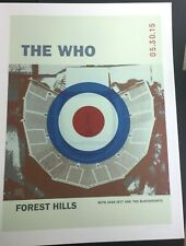 🔥 THE WHO JOAN JETT 2015 FOREST HILLS NY Poster Print SIGNED S/N #/50 IN STOCK!