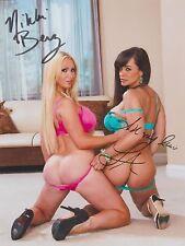 """Nikki Benz & Lisa Ann """"Porn Star's"""" LESBIAN INT. RARE DUEL-SIGNED RP 8X10 WOW!!!"""
