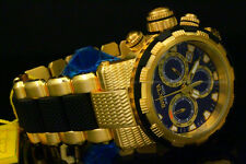 Invicta Specialty Capsule Swiss Ronda Chrono 18K Gold Plated S.S Bracelet Watch