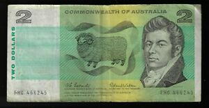 1966 2$ Dollars Commonwealth Australia 🇦🇺Banknote Pic# 38a Coombs & Wilson