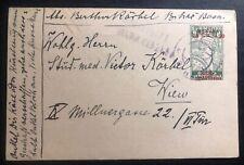 1919 Bosnia Herzegovina Censored Stationery Postcard Cover To Vienna Austria