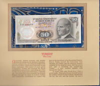 Most Treasured Banknotes Turkey 50 Lirasi 1970 UNC P 188 UNC Birthday F19408067