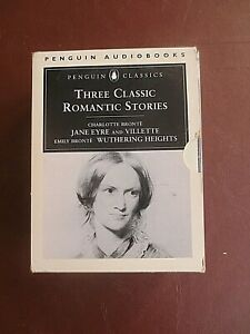 Audio Book Bronte Sisters Jane Eyre Vilette Wuthering Heights 6 Cassette Tapes