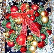 Adventskranz, Weihnachtskranz rot, NEU !