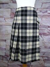 MARTINELLI vintage cream and black wool kilt kilted skirt