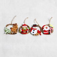 Party New Christmas Santa Pendants DIY Decorations Wooden Ornaments