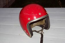 Arthur Fulmer 71 Vintage AF 40 Red Motorcycle Helmet. Size Large Rat Rod