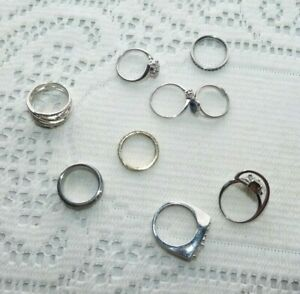JEWELLERY BULK LOT NINE  MIXED DRESS RINGS VARIOUS STYLES - NEW