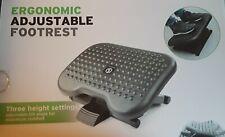 Desk Foot Rest Ergonomic 3 Height Positions Adjustable Tilt Non-Skid Assembled