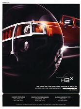 2007 Hummer H3x H3 Chrome - Original Advertisement Car Print Ad J309