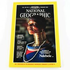 National Geographic Feb 1986 Madrid GRIZZ Of Men and the Great Bear Tide Pools