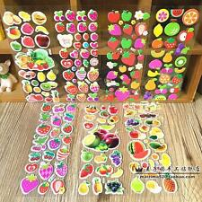 Random 8 sheets no repeat kids favor fruits and vegetables stickers Lot Gift