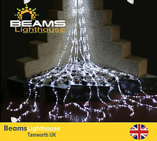 LED Fairy Waterfall Lights White/Warm White/RGB Xmas Party Wedding Entrance Hall