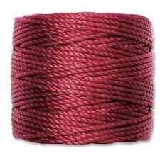 S-LON 0.9mm Macrame Cord Tex 400 knotting thread Dark Red