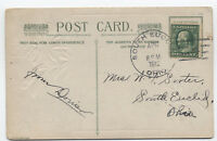 1912 South Euclid Ohio Doane cancel on postcard Cuyahoga Cty DPO [3489.19]