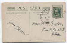 1912 South Euclid Ohio Doane cancel on postcard Cuyahoga Cty DPO [3489.19]
