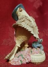 Vintage 1994 Avon singing bird with mouse playing drum figuring Pristine Cond