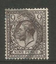 Great Britain 1912-13 King George V 9p black brown (170) fine used
