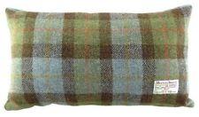 Harris Tweed Rectangular Cushion Blue Tartan LB4001COL15