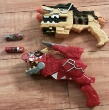 2015 POWER RANGERS DINO CHARGE MORPHER + RED T REX MORPHER LOT OF 2