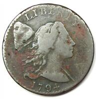 1794 Liberty Cap Large Cent 1C Coin S-25 - Fine Details (Corrosion) - Rare!