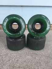 SECTOR NINE 9 Balls Green Clear 65mm Vintage Set 4 SKATEBOARD WHEELS