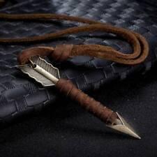 Vintage Men's Leather Arrow Necklace Pendant Choker Chain Punk Style Jewelry