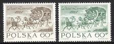 Poland - 1964 Stamp day / Coach - Mi. 1530-31 MNH