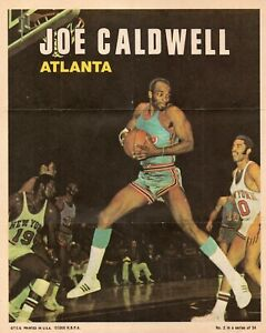 VINTAGE POSTER~1968 Topps Joe Caldwell 8x10 Insert #24/24 Atlanta Hawks St Louis