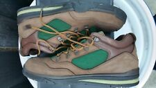 Rare Men's DC brown leather green canvas broccoli beef size 10.5 44 skater shoes