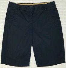 "J Crew Women 0 Navy Blue Bermuda Chino Shorts Walking 19.5"" Long J.Crew"