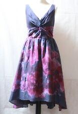 Longue robe violette et rose soie mélangée Lela Rose t. 38 / 40
