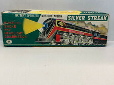 Vintage Silver Streak 3305 MT Trademark Litho Train Tin Toy , Japan *IN BOX*