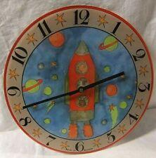 BNIB Roger Lascelles Wall Mounted Rocket Animal Glass Clock 30cm Diameter  VGC