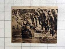 1937 Miss Marjorie Cottle Driving Through Water Splash Cotswold Motorcycle Trial
