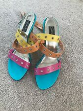 Schuh Colourful High Heel Shoes Sandals Size: Uk 4 Eur: 37