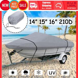 14-16ft 210D Premium Heavy Duty Grade Trailerable Boat Cover UV Dust Sun Protect
