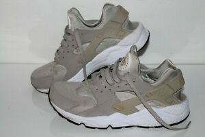NIke Air Huarache Running Shoes, #318429-040, Gray/White, Leather, Men's US 10