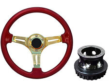 Red Gold TS Steering Wheel + Boss Kit fits FORD 012