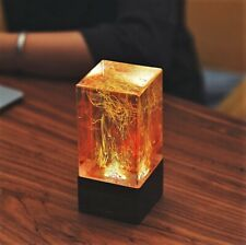 EPlight Art Lamp, Ambient night light, Resin and wood table decor, Holiday gift