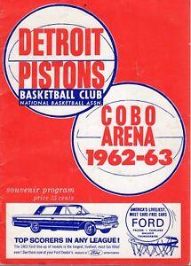 1963 (Feb.20) NBA Basketball Program, Boston Celtics @ Detroit Pistons ~ Fair